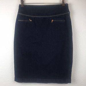 Lauren Jeans Ralph LRL Denim Skirt Size 6 Side Zip
